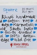 Khadi Katoen Papier Vierkant 30 x 30cm 20 vellen