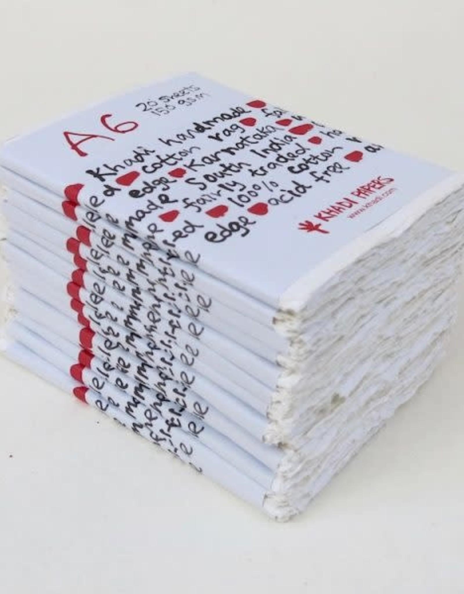 Khadi Katoen Papier A6 20 vellen