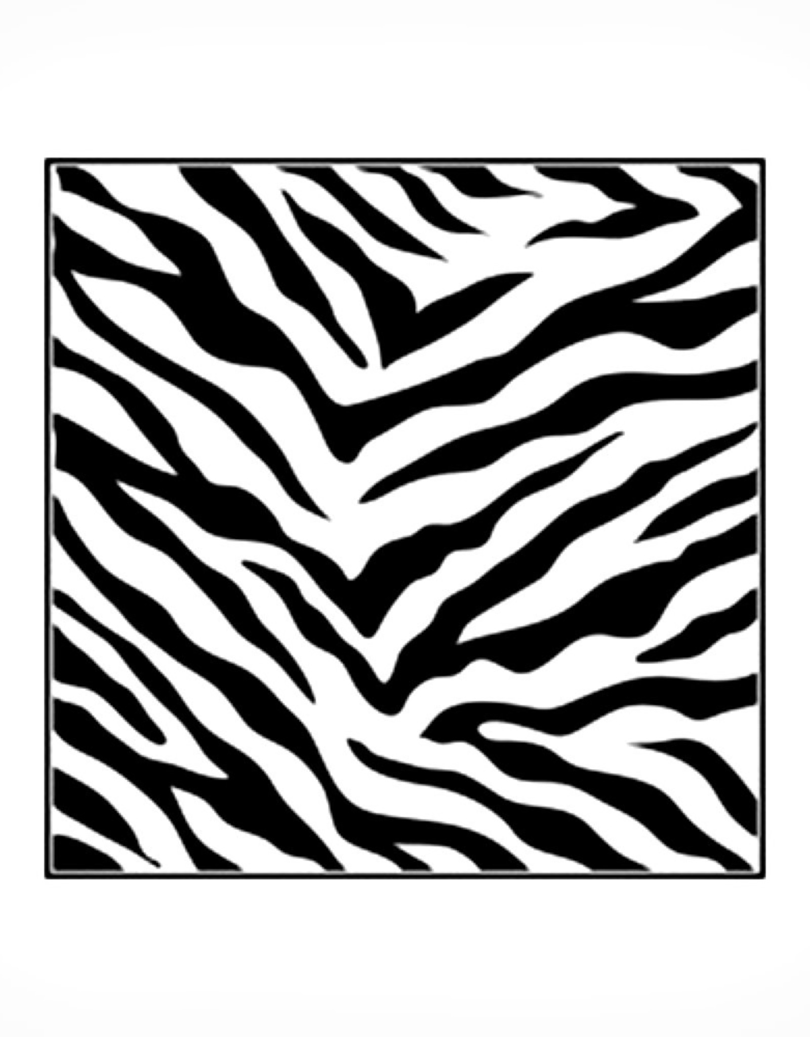 Stencil Zebra Print