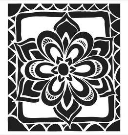 Stencil Zen Flower