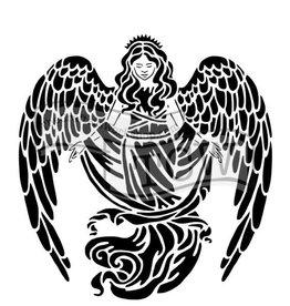 Stencil Prayerful Angel