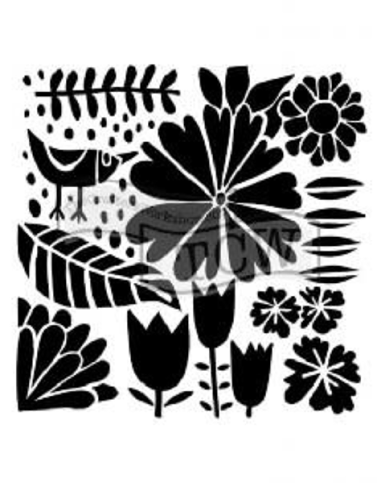 Stencil Dutch Spring