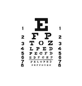 Stencil Eye Chart