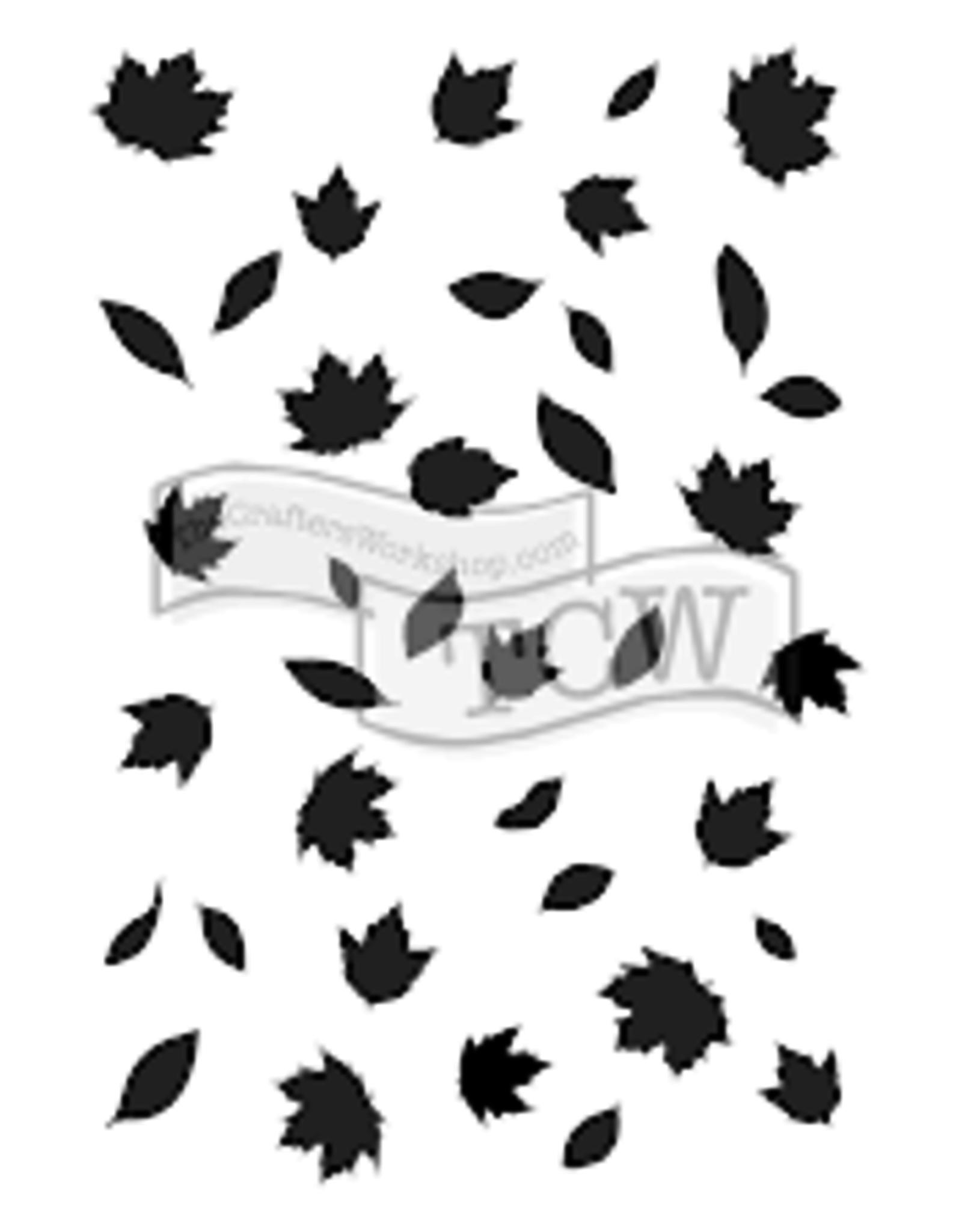 Stencil Falling Leaves