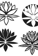 Stencil Lotus Blossom