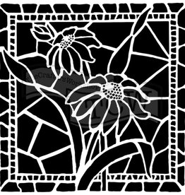 Stencil Stained Glass Daisies
