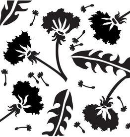 Stencil Dandelions large
