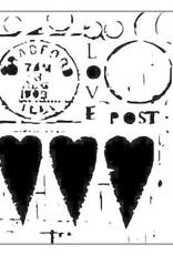 Stencil Love Post large