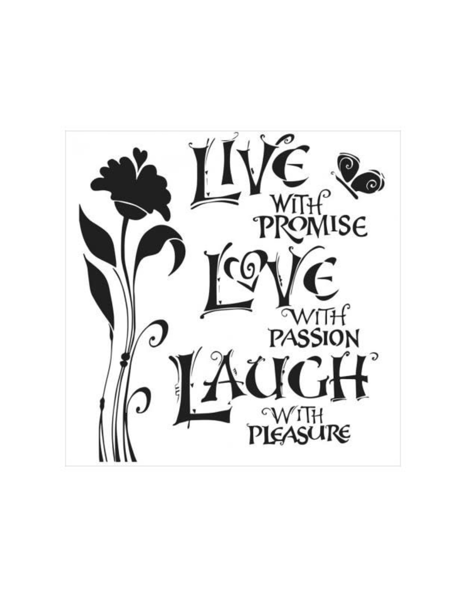 Stencil Live Love Laugh large