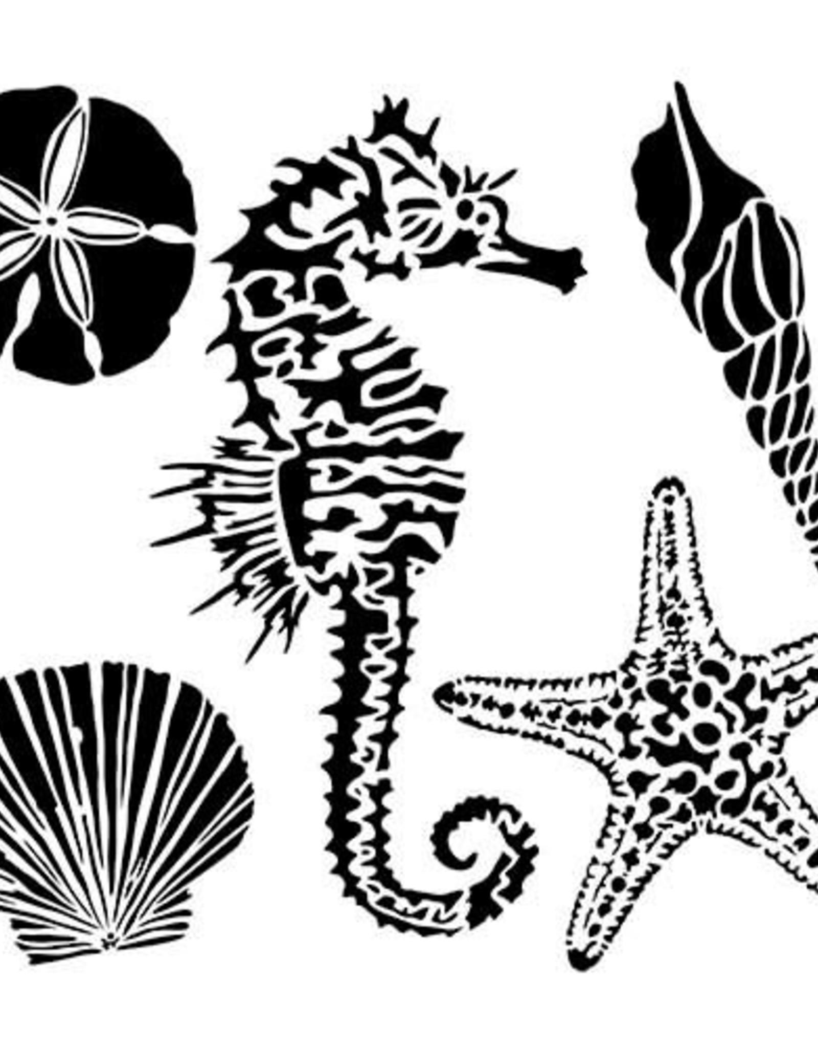 Stencil Sea Creatures large