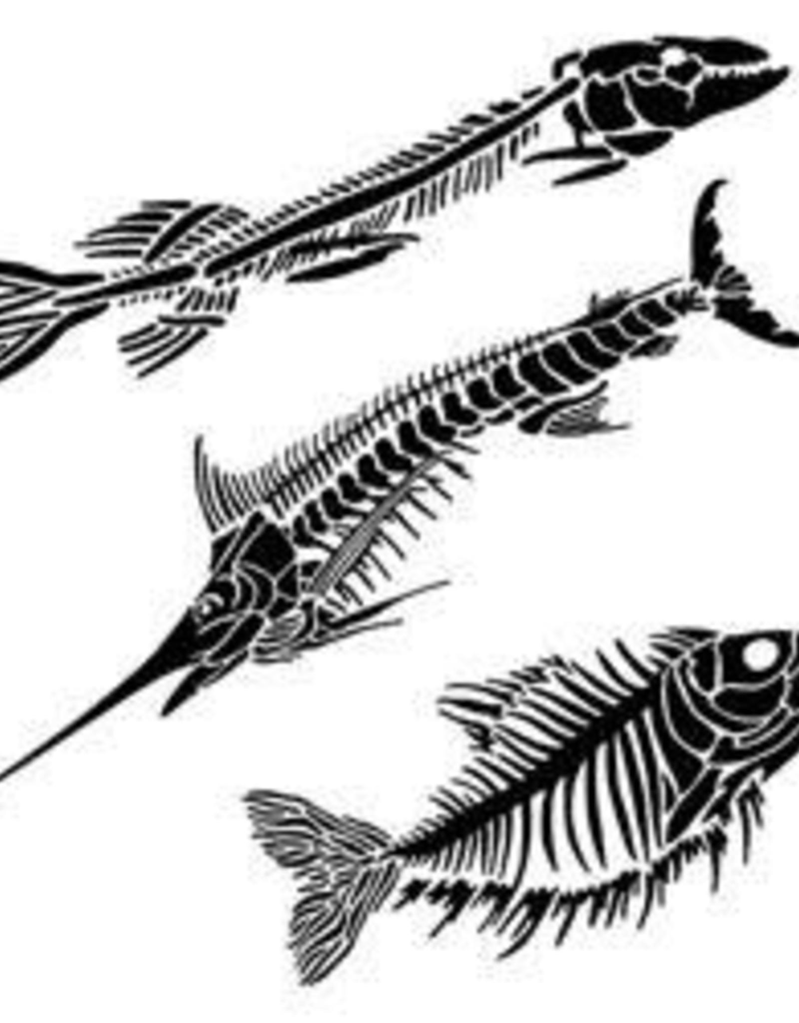 Stencil Fish Fossils