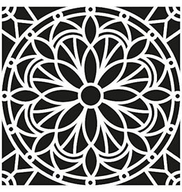 Stencil Stained Glass Flower large