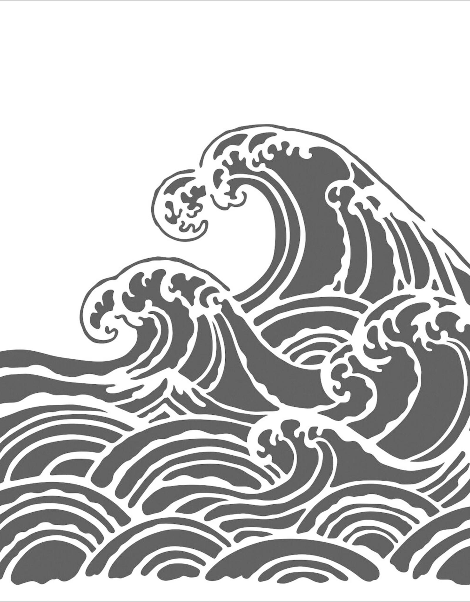 Stencil Wave large