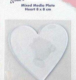 Mixed Media Plate Heart
