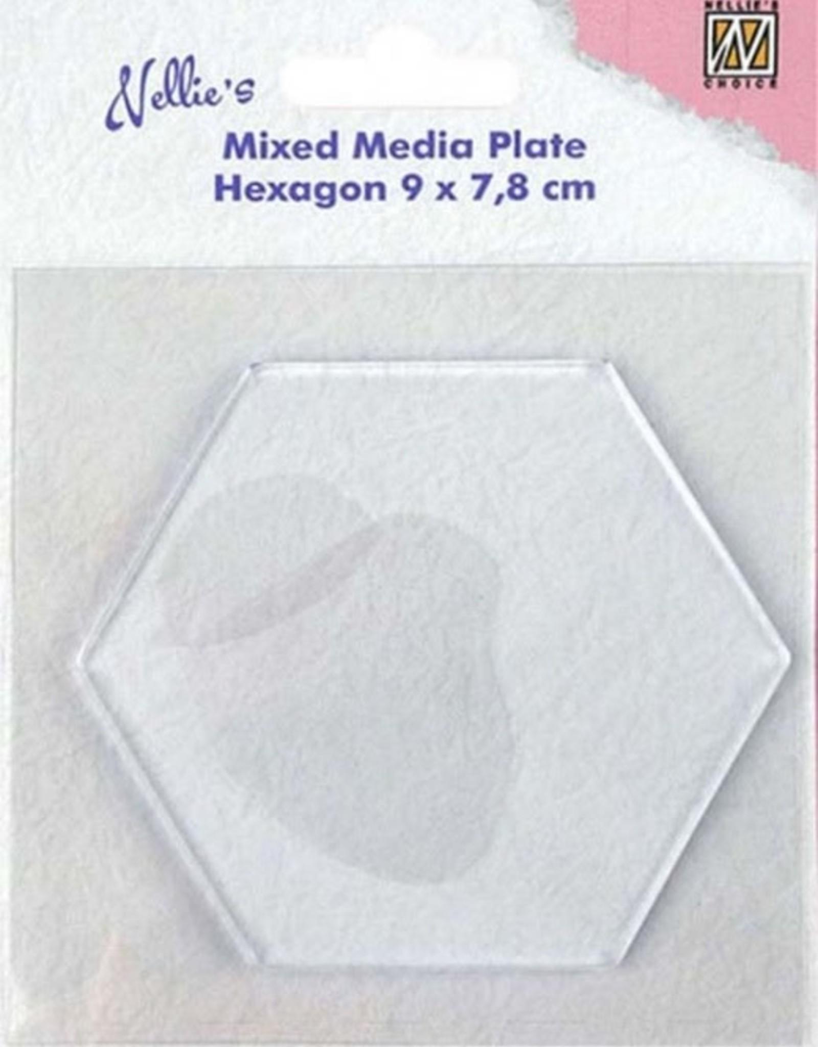 Mixed Media Plate Hexagon