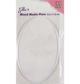 Mixed Media Plate Ovaal