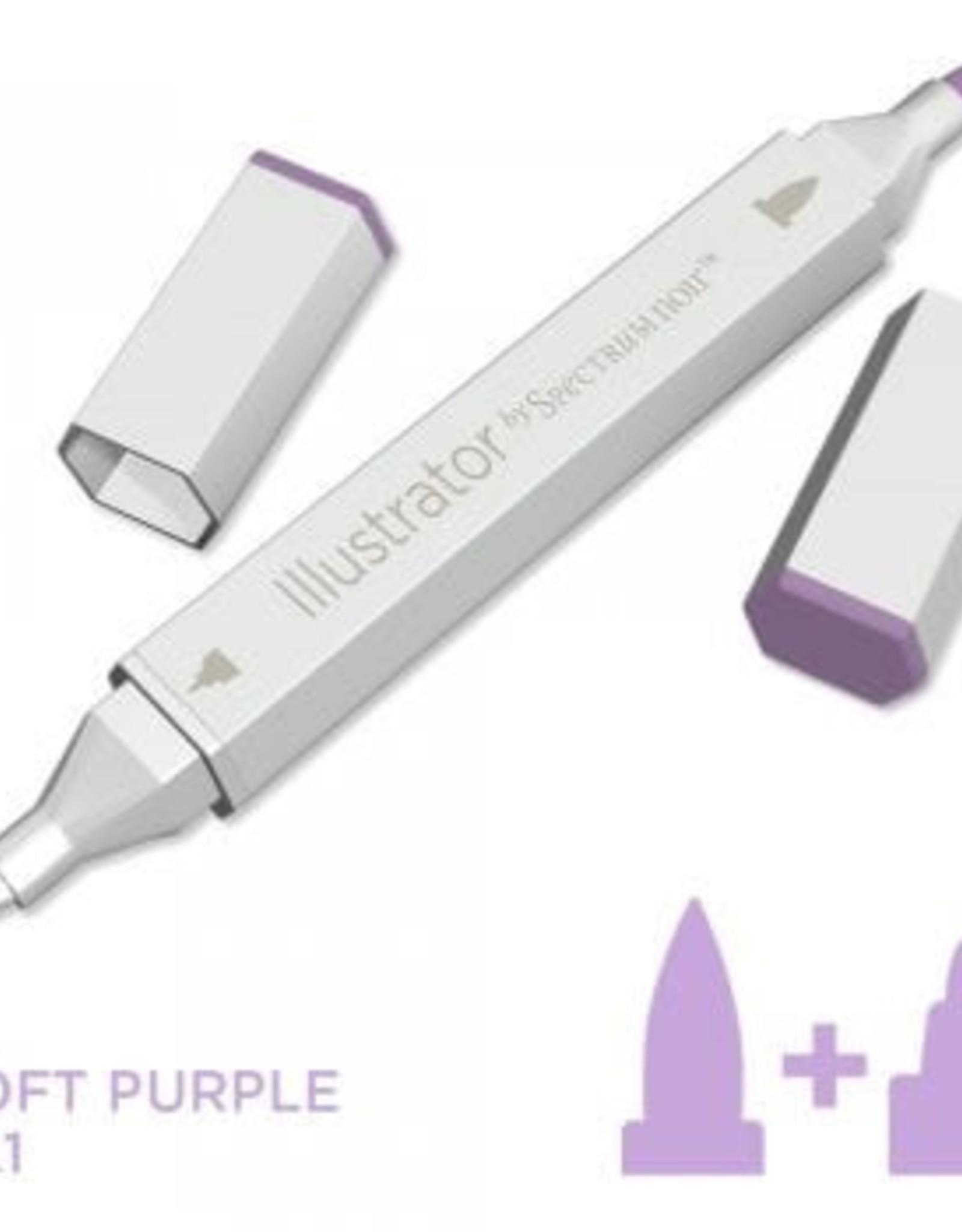 Alcohol Marker Soft Purple PL1
