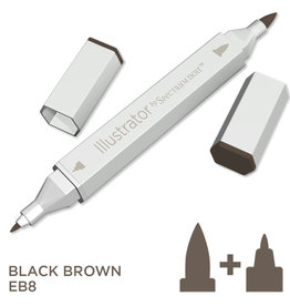 Alcohol Marker Black Brown EB8