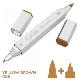 Alcohol Marker Yellow Brown GB6