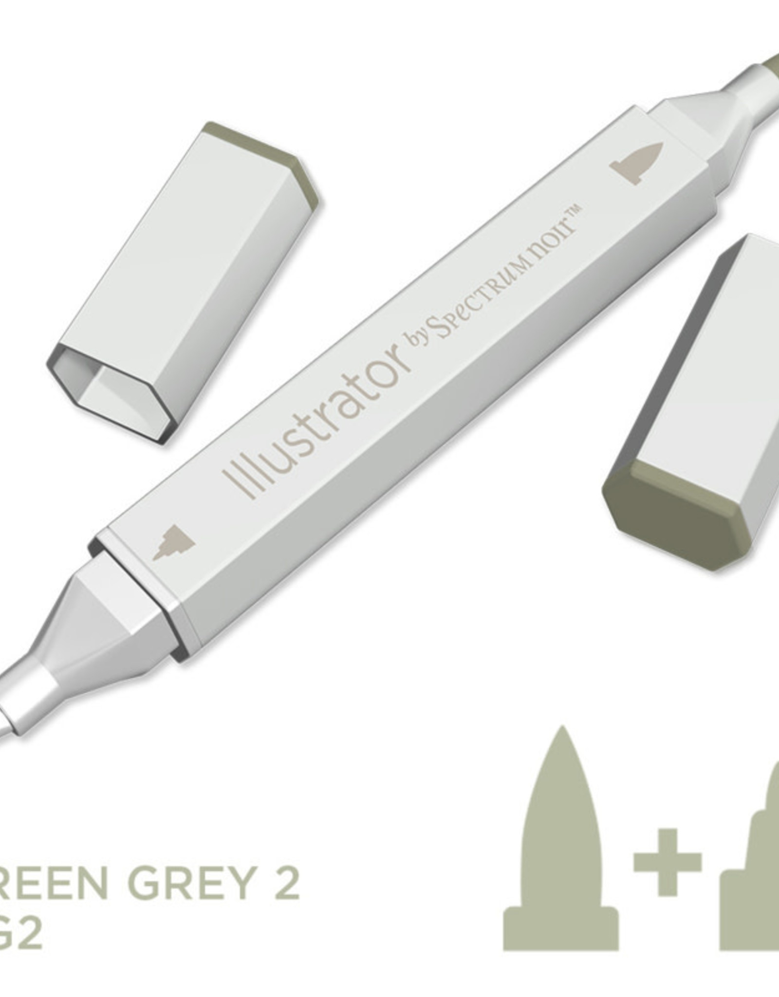 Alcohol Marker Green Grey GG2