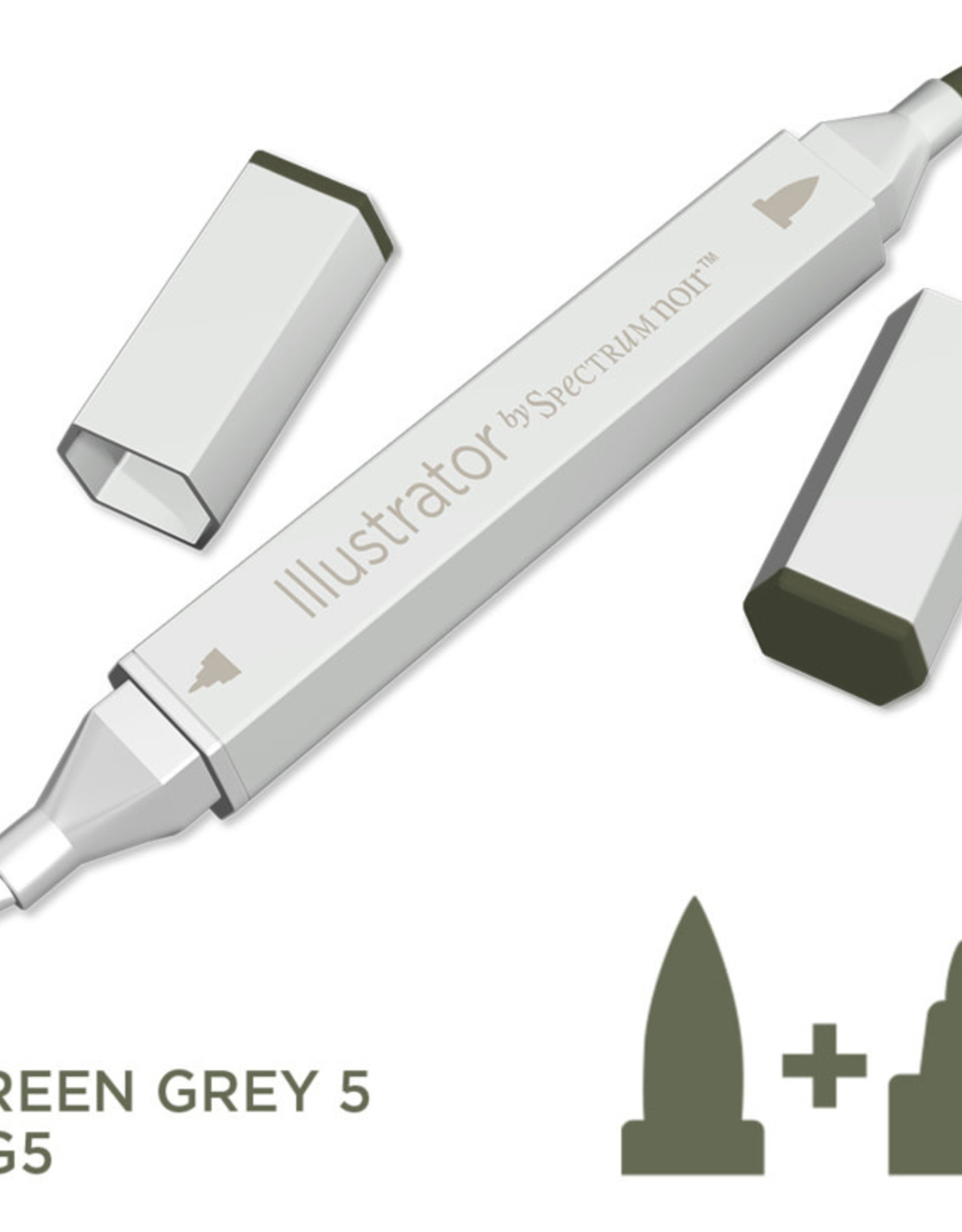 Alcohol Marker Green Grey GG5