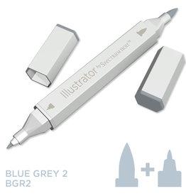 Alcohol Marker Blue Grey BGR2