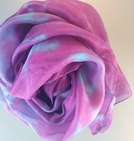 White scarf Pongé undyed