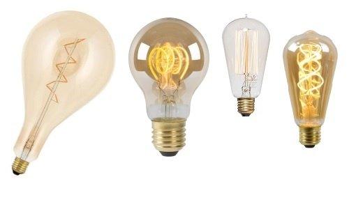 Ledlampen met warme kleuren