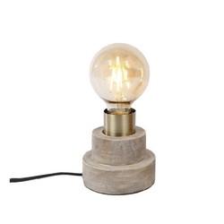 Houten tafellampje rond