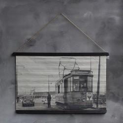 Oude fotokaart Rotterdamse tram 1952