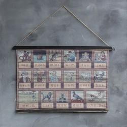 Aap Noot Mies leesplankje op linnen | canvas
