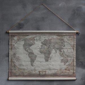 Spiksplinternieuw Wereldkaart op linnen | canvas | Rimisa sfeer en decoratie LN-64