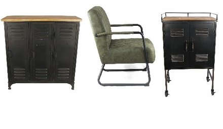 Tafels en stoelen, lockerkasten