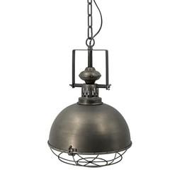 Donker messing kleurige hanglamp met korf