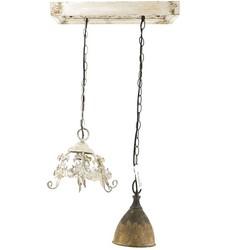 Plafonniere met 2 hanglampjes