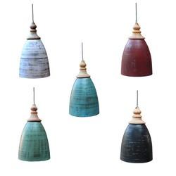 Vintage hanglamp in 5 kleuren en 2 maten