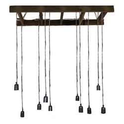 Hanglamp hout 10 lamp