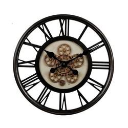 Zwarte tandwiel klok