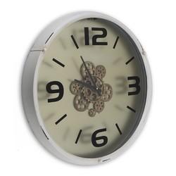 Tandwiel klok met open uurwerk