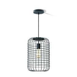 Zwarte hanglamp draadlamp, model Netting 26