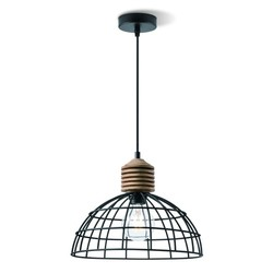 Industriële hanglamp zwart Ø 30