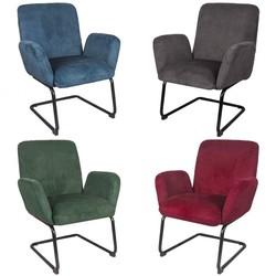 Sfeervolle fauteuil van ribstof in 4 kleuren