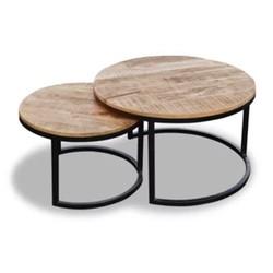 Salontafel set van 2 tafels