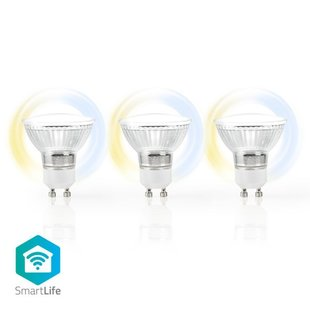 Wi-Fi Smart LED-Lamp | Warm tot Koel Wit | GU10 | 3-Pack