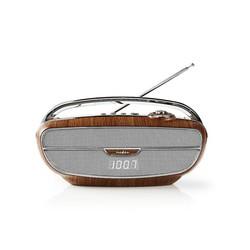 FM-radio | 60 W | Bluetooth® | Bruin / Zilver