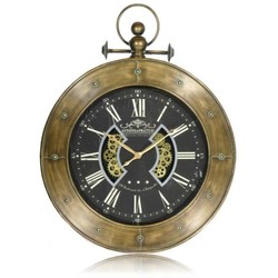 Tandwiel klok ro Luzern brons 110x141cm
