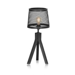 Tafellamp sunburn zwart 62 cm met  ledlamp