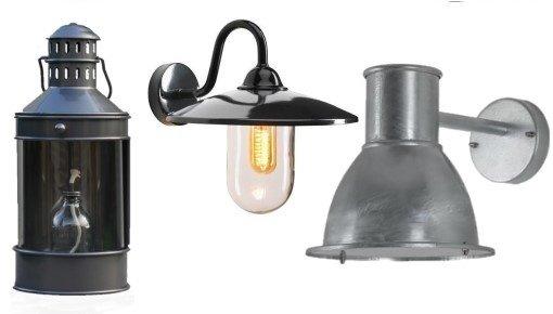 Landelijke lampen, stal- & boerderijlampen , klassieke & moderne buitenlampen