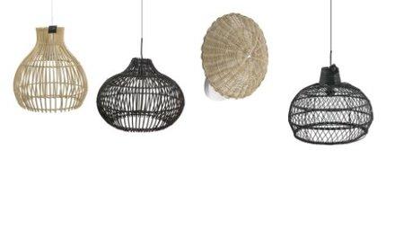 Rotan en Bamboe lampen