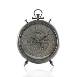Tafelklok zakhorloge Barker L zilver/grijs 52,5cm